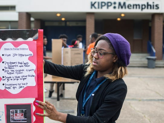 May 18, 2018 - Khristian Terry, a senior at KIPP Memphis