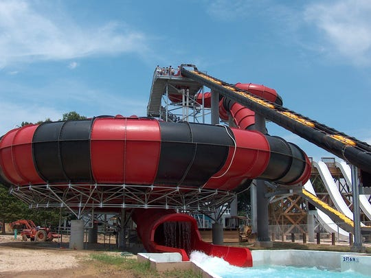 ** FOR USE WITH AP LIFESTYLES ** Blue Bayou/Dixie Landin' provided this photo of the VooDoo bowl ride at Blue Bayou Water Park in Baton Rouge, La. (AP Photo/Blue Bayou/Dixie Landin')