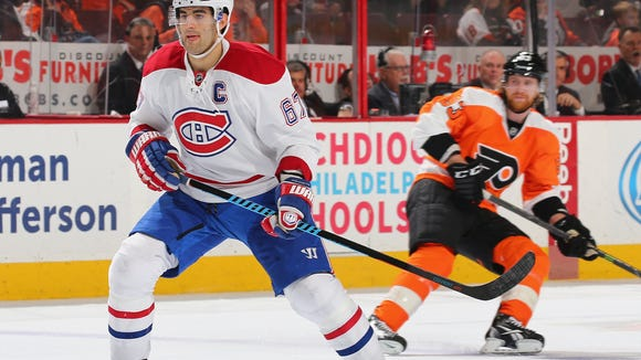 Max Pacioretty and the Canadiens play the Flyers three