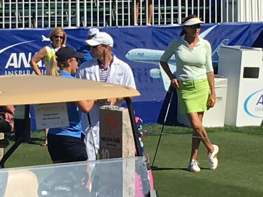 Caitlyn Jenner at the ANA Inspiration playing in the Pro-Am. (March 29, 2017)