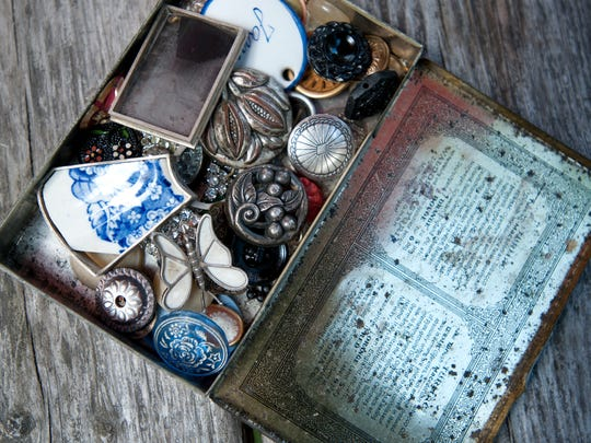 Jane Frank of Burlington collects cast-offs from garage sales to repurpose into her jewelry.