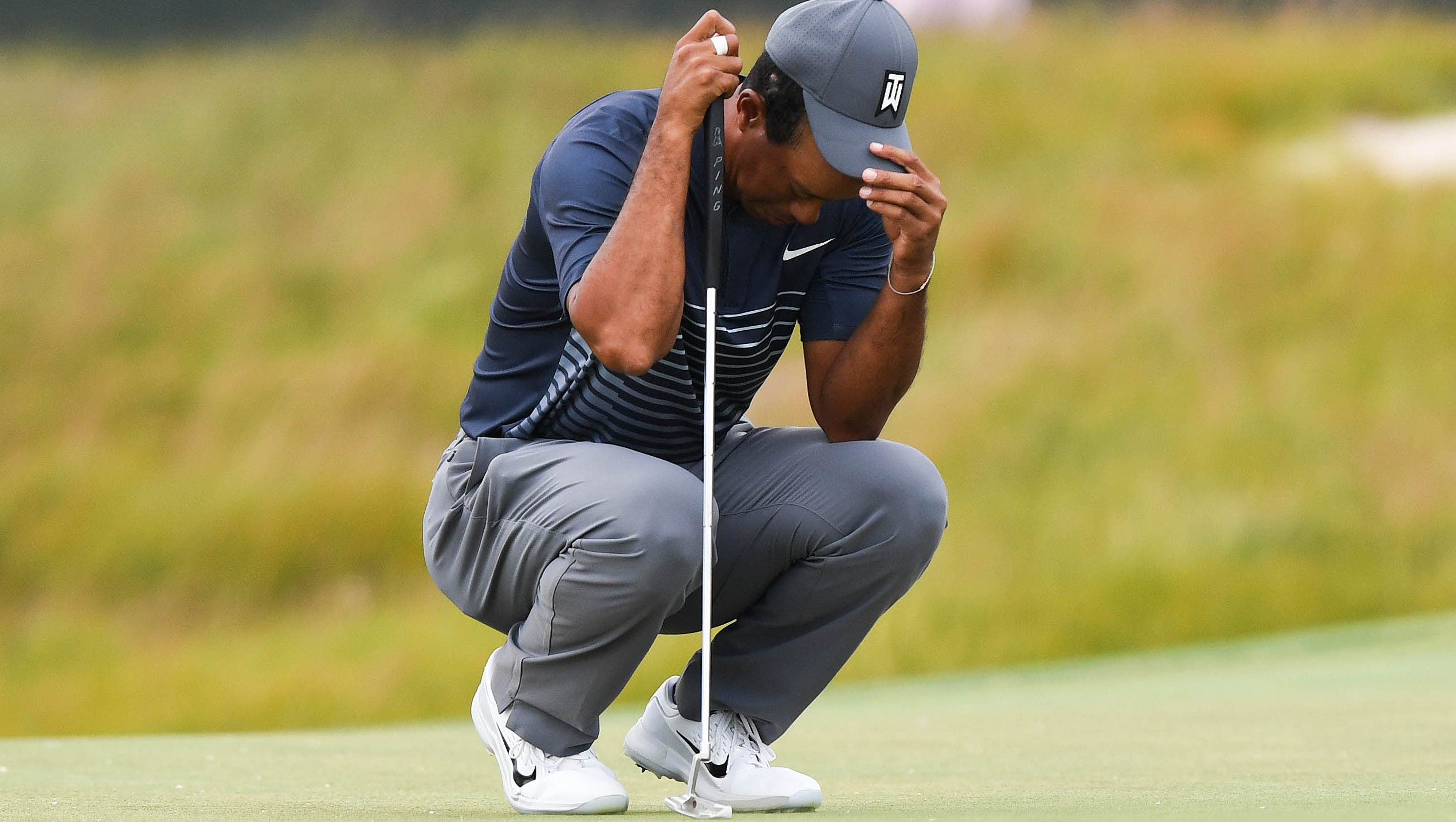 u s  open  tiger woods lets another round get away from him
