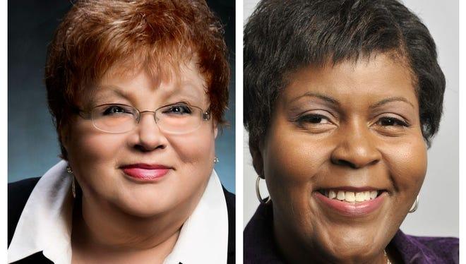At-Large Council Member Carol Wood, left, and 3rd Ward Council Member A'Lynne Boles.