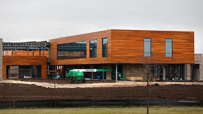 The new headquarters of Grande Cheese at Highway 151 and Camelot Drive is scheduled for completion in May 2016.