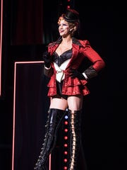 An Angel dons costumes and footwear designed for 'Kinky Boots' by Gregg Barnes.