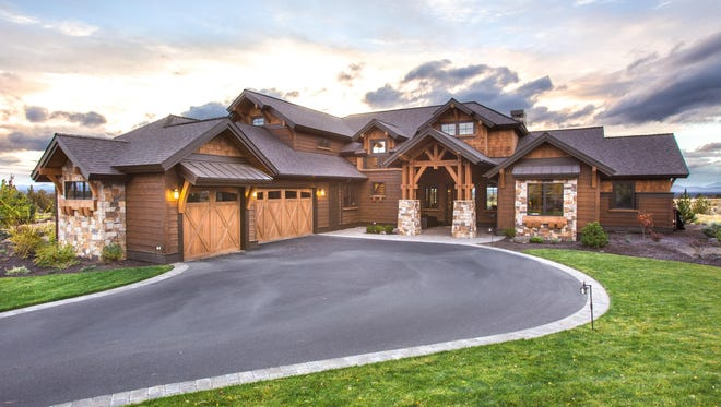 Rugged Craftsman-style details draw all eyes to the exterior.