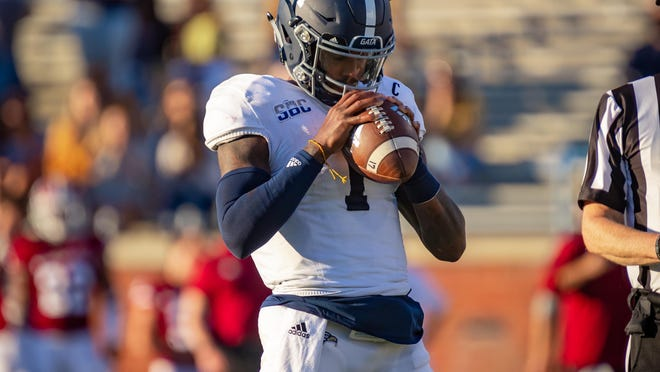 Georgia Southern senior quarterback Shai Werts during the Eagles' game against the University of Massachusetts on Oct. 17 at Paulson Stadium in Statesboro.