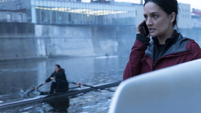 "Archie Panjabi stars as Kendra Malley in ""Departure."""