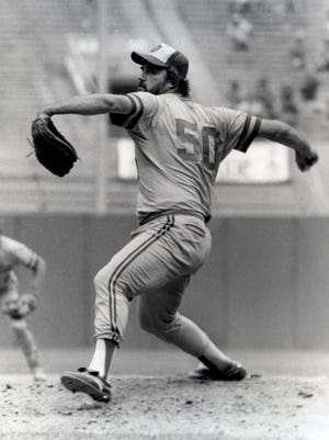 Milwaukee brewers pitcher Pete Vuckovich in action during the 1982 season.