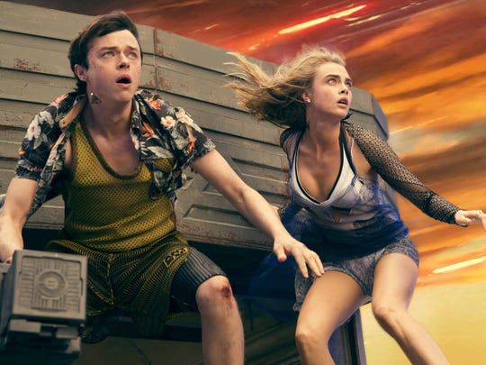(Left to right.)    Dane DeHaan, and Cara Delevingne