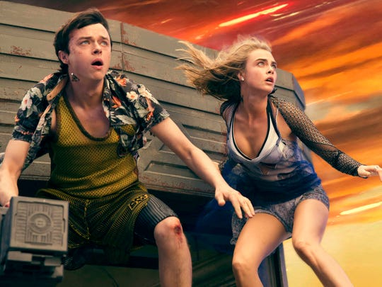 """Dane DeHaan and Cara Delevingne star in """"Valerian and the City of a Thousand Planets."""" Photo credit: Vikram Gounassegarin © 2016 VALERIAN SAS Ð TF1 FILMS PRODUCTION"""