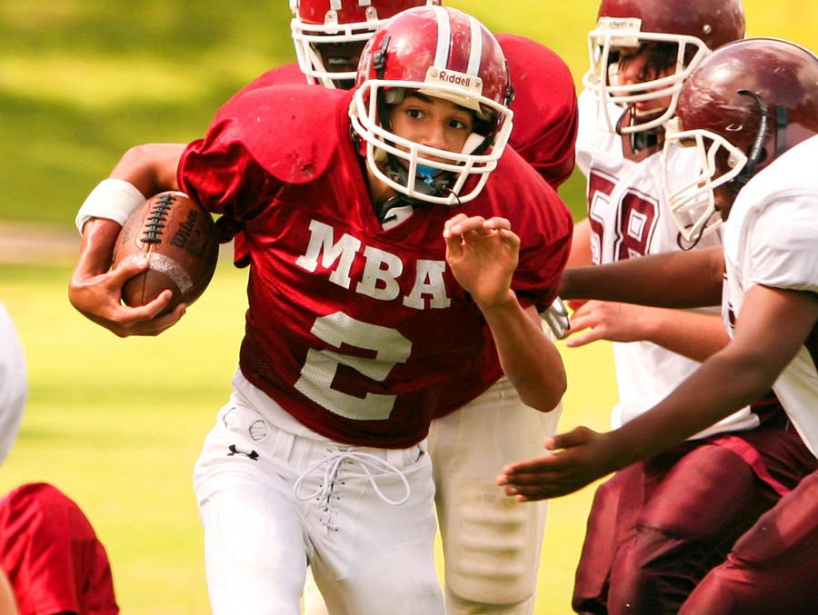 Jalen Hurd played middle school and freshman ball at Montgomery Bell Academy. He transferred to Beech prior to his sophomore season.