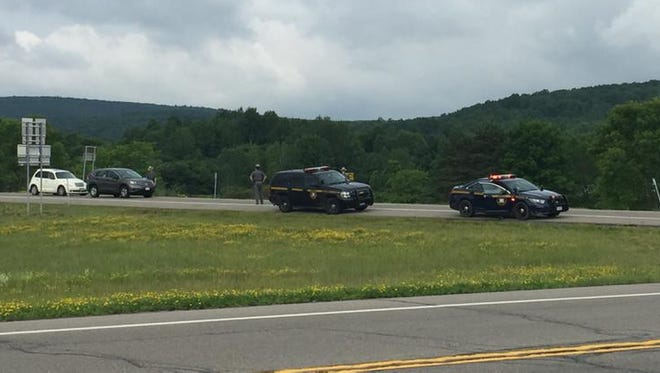 Police continue car searches near border on Sunday - in search of two killers.