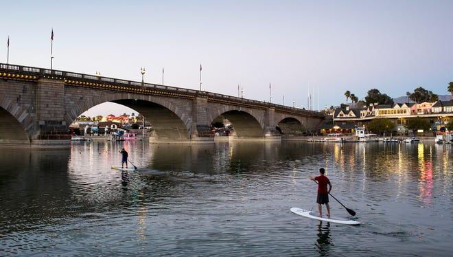 Lake Havasu celebrates its famous landmark during the London Bridge Days event on Saturday.