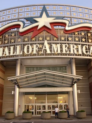 A large sign hangs above an entrance to the Mall of America July 16, 2002 in Bloomington, Minnesota.
