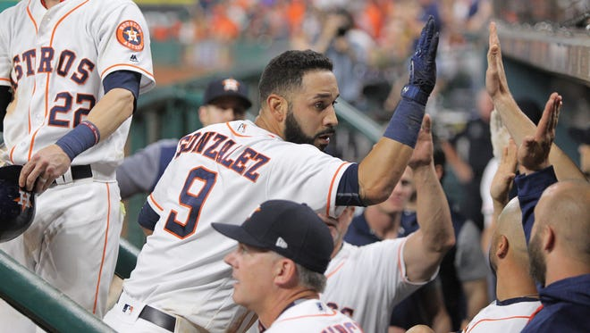 """""""To me he's the best utility guy in baseball,"""" Astros GM Jeff Luhnow says of Marwin Gonzalez."""