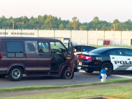 Police say they had to use stop sticks to stop the van.