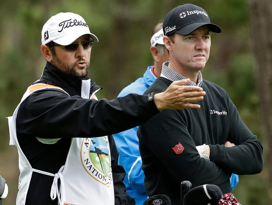 2014-02-07 Jimmy Walker and caddie