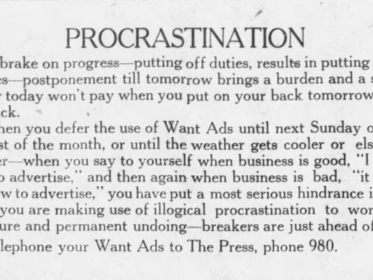 Spanning Time: How much of our history is procrastination?