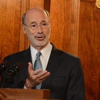 Pennsylvania Gov. Tom Wolf discusses the state budget bill during a Capitol news conference in his chambers July 10 in Harrisburg.
