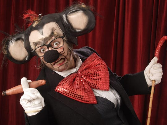 "You can expect plenty of political humor and heavily barbed songs in this election year when the Mickee Faust Club unleashes its ""What. The. Faust."" show at 8 p.m. Friday and Saturday in The Clubhouse, 623 McDonnell Drive in Railroad Square Art Park. The rollicking rodent Mickee Faust (aka writer-performer Terry Galloway, shown here) promises to make ""America grate again"" when it comes to cheese. Tickets are $15 general admission; $10 for students, retirees and people with disabilities. The shows run through Oct. 22. The humor contains adult themes, so it may not be suitable for kids. Visit www.mickeefaust.com."