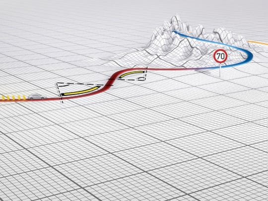 A schematic 3D map shows how mapping data provided