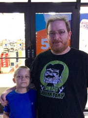 Cael Sullivan and his father Dan, out shopping for