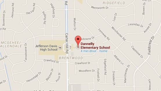 "A student was ""clipped"" by a bus near Dannelly Elementary School this morning."