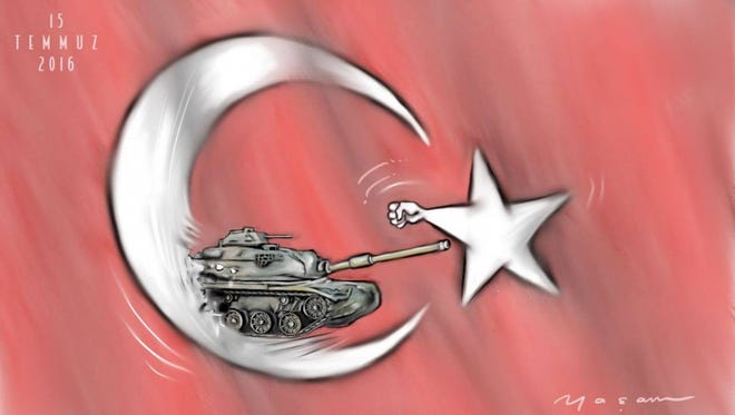 Since Turkey became a republic in 1923, there have been repeated coups by the military. This time people took to the streets (at the request of President Erdogan) and prevented the coup from succeeding.