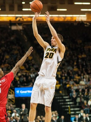 Iowa's Jarrod Uthoff has played some of his best basketball this season away from Carver-Hawkeye Arena.