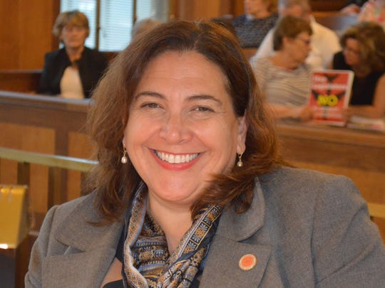 "Majority Leader Catherine Borgia, D-Ossining, said the budget was the ""shakiest of Astorino's house-of-cards budgets."