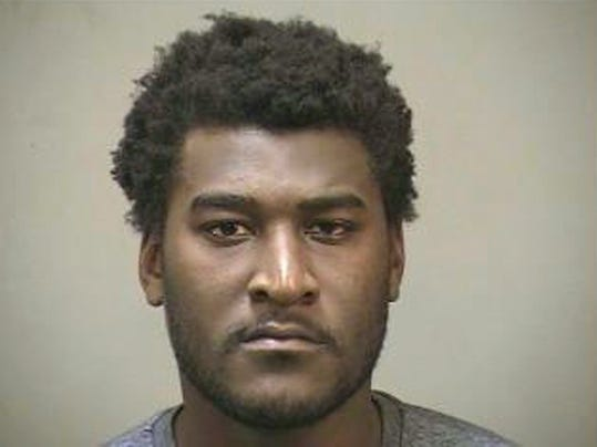 In this photo provided by the Edmond, Okla. Police Department, Justin Blackmon is pictured in a booking photo dated July 23, 2014. Blackmon, a former standout at Oklahoma State, was arrested Wednesday evening in the Oklahoma City suburb of Edmond on a complaint of marijuana possession. (AP Photo/Edmond Police Department)