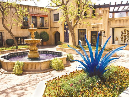 """A Sedona landmark since the 1970s, Tlaquepaque Arts & Crafts Village is considered the """"Art and Soul"""" of Sedona."""