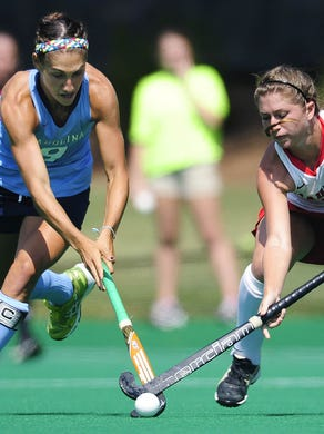 Emily Wold traveled to the Netherlands last month to represent the United States in the field hockey World Cup competition.