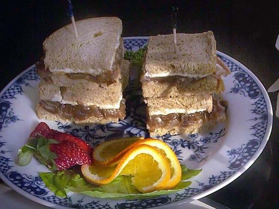 Cream Cheese Date Sandwiches from Watts Tea Room.