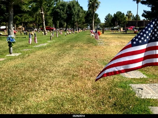 American Flag at Mountain View Funeral Home and Cemetary