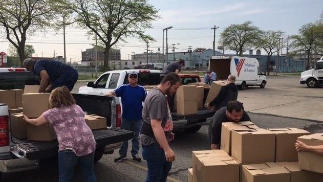 Letter Carriers locally collected 11,000 pounds of non-perishable food Saturday to be given to Volunteers of America, Catholic Charities and The Salvation Army food pantries.