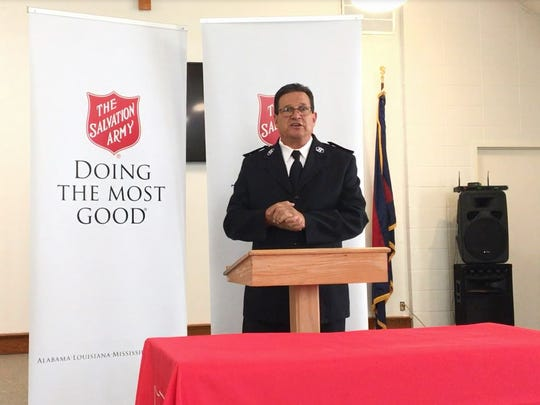 Capt. Jerry Casey leads the Salvation Army in Monroe.