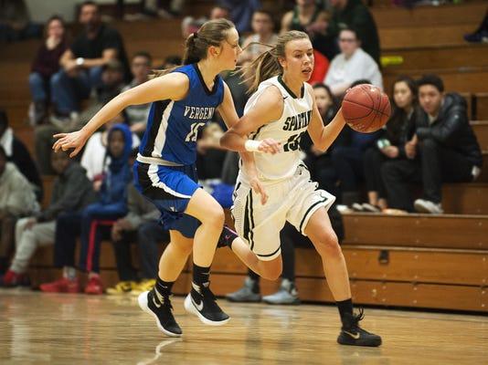 Vergennes vs. Winooski Girls Basketball 12/09/15