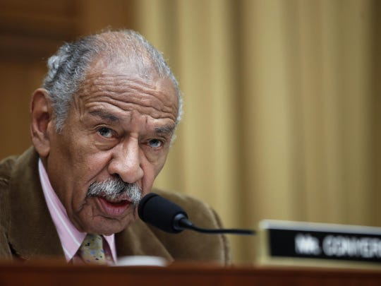 U.S. Rep. John Conyers, D-Detroit, speaks during a June 4, 2017 House Judiciary subcommittee hearing.