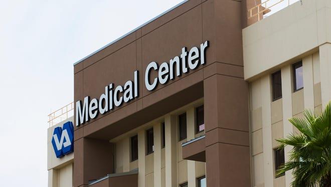 Exterior of the Carl T. Hayden Veterans Affairs VA Medical Center in Phoenix May 28, 2014.