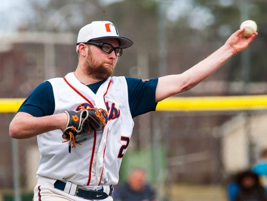 Millville starter Bobby Roslewicz (2) throws to first