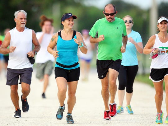 Hundreds took part Saturday in the 20th annual Billy Shevach Scholarship Run at Hammond Stadium in south Fort Myers. The race was presented by the Fort Myers Track Club.