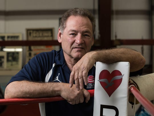 Hal Chernoff poses for a photo at Main Street Boxing Gym on Wednesday, May 2, 2018.