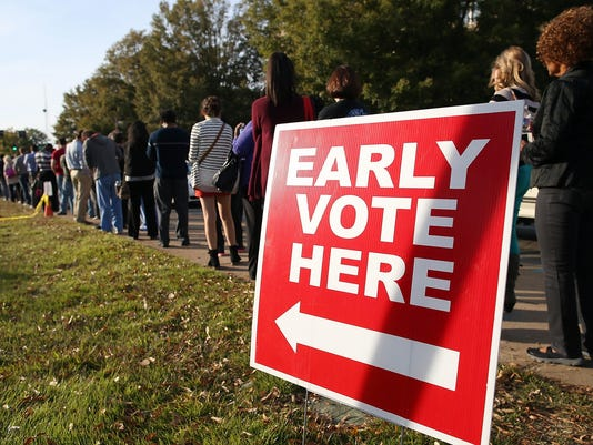 Early Voting Draws Crowds In State's Tight Race