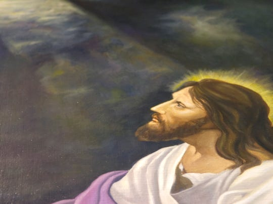 Zion United Methodist Church in Windsor Township had Guy Stambach's painting 'Jesus in the Garden of Gethsemane' restored.