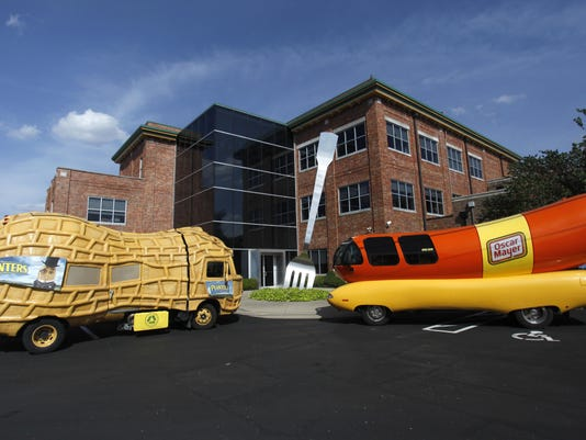 The Oscar Mayer Wienermobile and the Planters Nutmobile