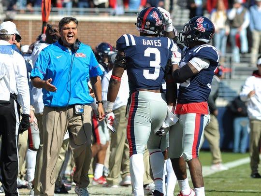 Ole Miss Rebels head coach Matt Luke and Mississippi