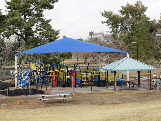 Fully-accessible playground at Chaparral Park