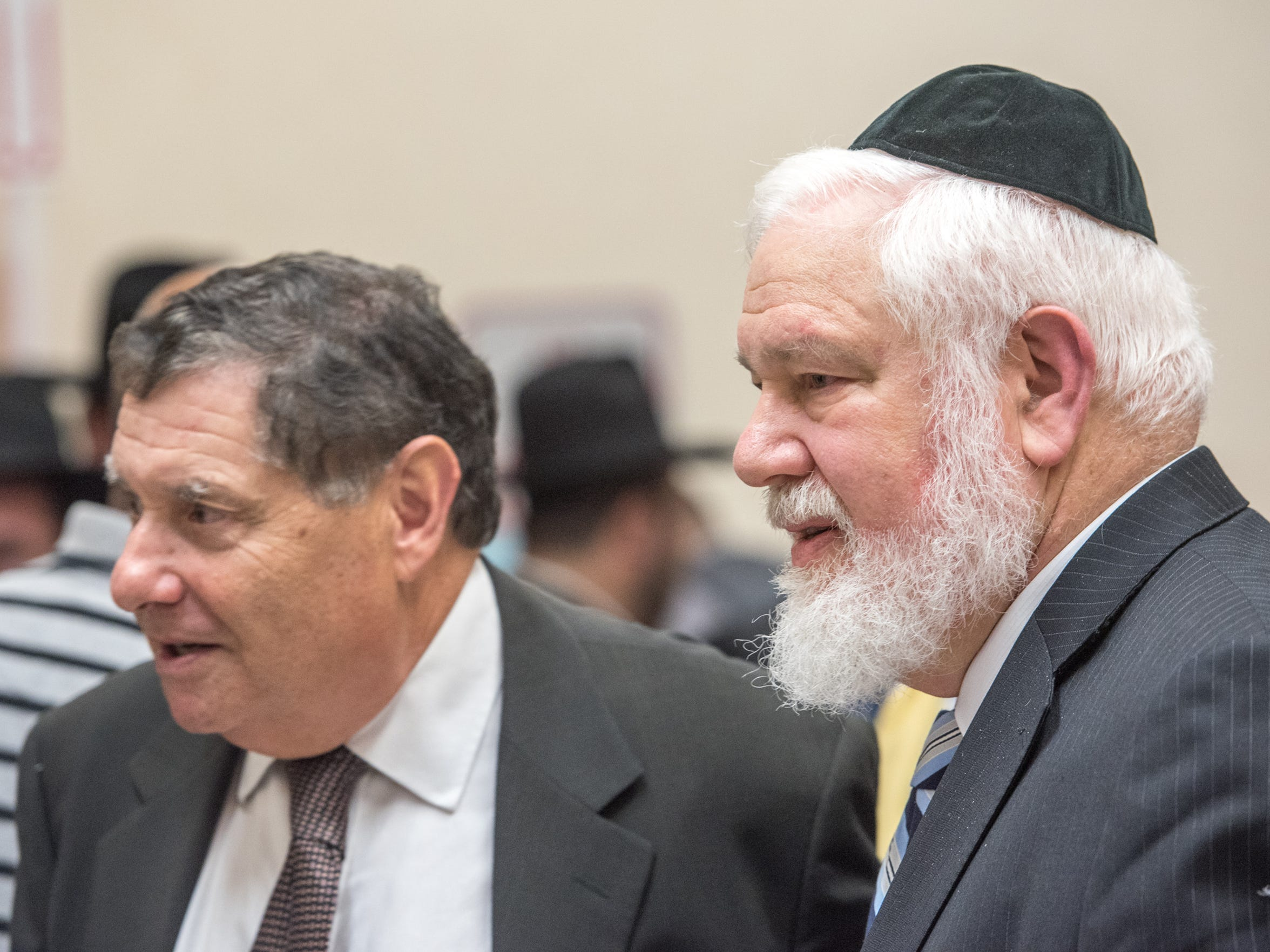 State Senator Robert Singer (left) is pictured with
